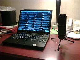 Remote podcasting from hotel in San Francisco