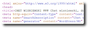 HTML source of poisoned page