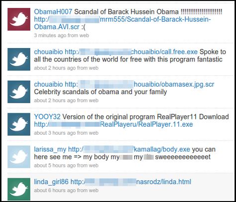 Obama Twitter scam