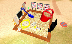 Virtual image of a sandbox