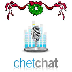 Chet Chat logo with wreath