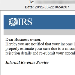 Malware attack claims the IRS has rejected your tax appeal