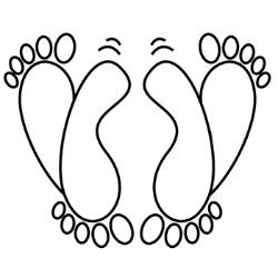 feet drawing 250