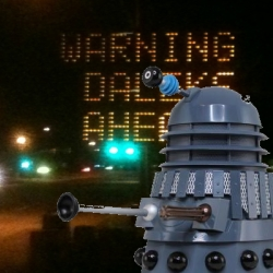 Daleks hack road sign
