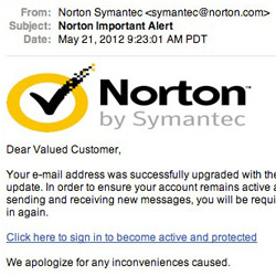 Is it a Norton or an AOL phishing scam?