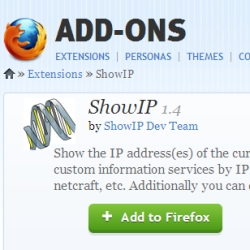 Privacy concerns over ShowIP Firefox add-on