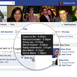Facebook users can now see if and when you have read their group posts. Privacy anyone?
