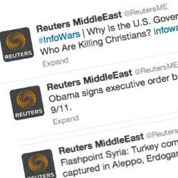 Reuters's Twitter, WordPress accounts hacked by apparent pro-Syrian government attackers