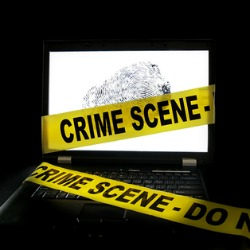 Crime on computer. Image on Shutterstock