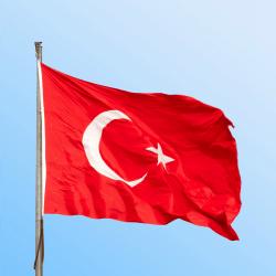 Turkey flag. Image courtesy of Shutterstock.