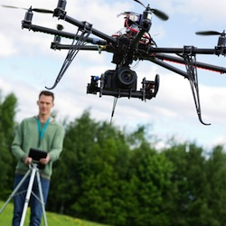 Triathlon camera drone falls out of the sky, owner claims it was hacked