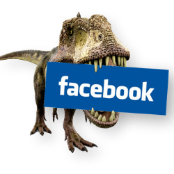 The 'Privacy Dinosaur' urges Facebook users to check their privacy settings