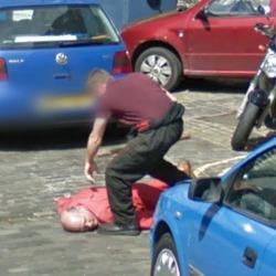 Pick axe on Street View