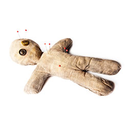 Voodoo doll. Image courtesy of Shutterstock