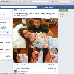 Attacker takes over Facebook page set up for 'Bucket List Baby' Shane, posts porn