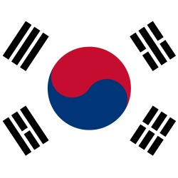 South Korea flag. Image courtesy of Shutterstock