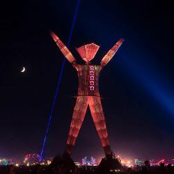 Image of Burning Man effigy courtesy of John Chandler/Flickr - Creative Commons license