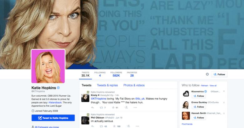 Katie Hopkins' Twitter account hacked, bogus 'sex tape' tweets issued