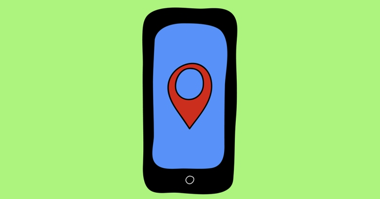 Phone with location. Image courtesy of Shutterstock.