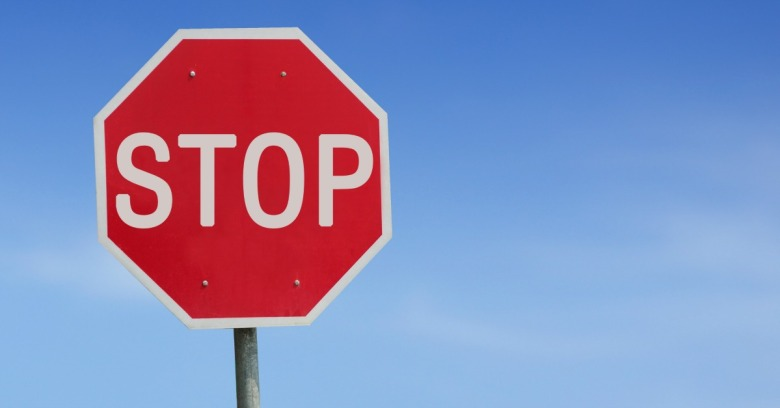 Stop sign. Image courtesy of Shutterstock.