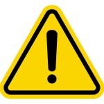 Warning sign. Image courtesy of Shutterstock.