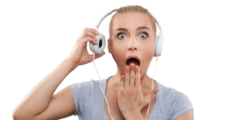 Shocked woman. Image courtesy of Shutterstock.