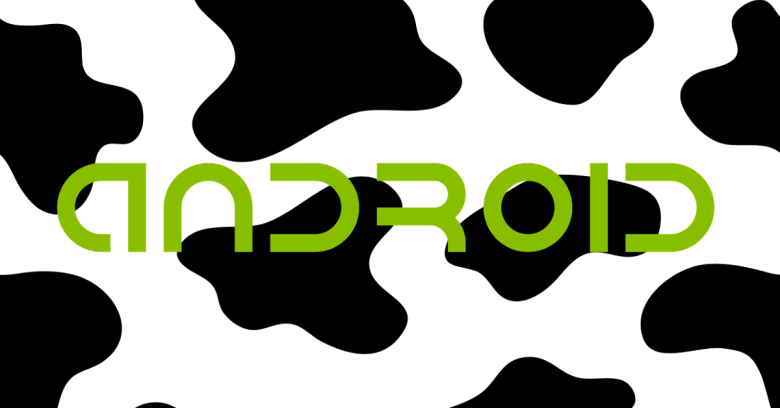 Android logo on cow pattern