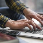 Man at a keyboard